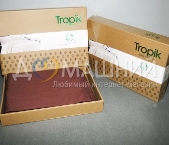 Хлопковое покрывала ТМ Tropic ВС-01-Brown