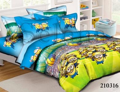 Подростковое постельное белье ТМ Selena ранфорс (210316) Миньоны 2