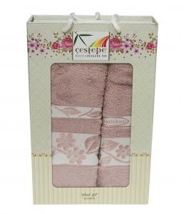 Набор полотенец из 2 штук ТМ Cestepe Bamboo розовый