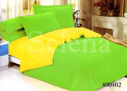 Постельное белье ТМ Selena поплин Салатово-Желтый 400402