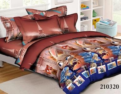 Подростковое постельное белье ТМ Selena ранфорс (210320) Зверополис