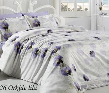 Постельное бельё ТМ First Choice бамбук-сатин Orkide Lila евро-размер