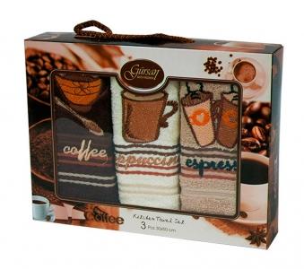 Набор полотенец кухонных 3 шт ТМ Gursan кофе 5 30х50