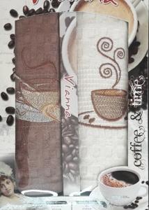 Набор полотенец кухонных 2шт ТМ Vianna (2V011) кофе 45х65