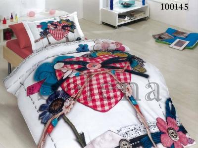 Подростковое постельное белье ТМ Selena бязь Сердечки 100145