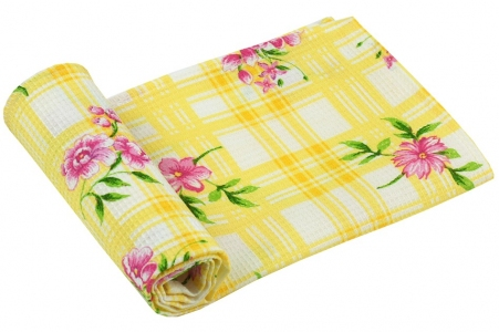 Полотенце вафельное ТМ Руно Желтый тюльпан 35х70