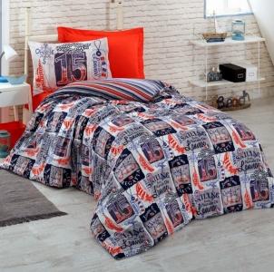 Подростковое постельное белье ТМ Cotton Box ранфорс Regatta Lacivert