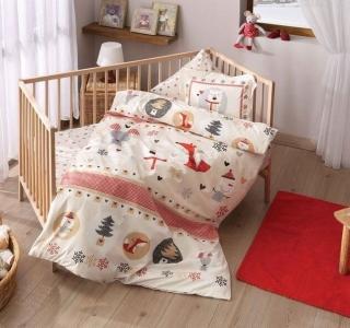 Детский постельный комплект ТМ TAС Snow Red Baby