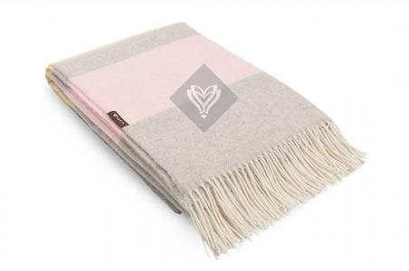 Плед шерстяной ТМ Идея Wool Agata розовый 140х200