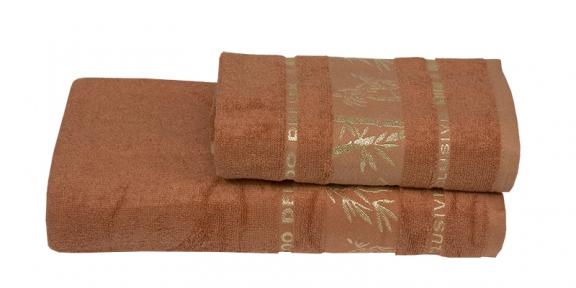 Полотенце ТМ Gursan Bamboo терракотовое