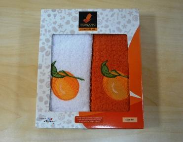Набор полотенец 2шт ТМ Mariposa Апельсин 023