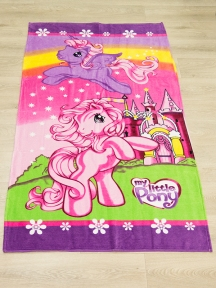 Полотенце велюровое пляжное Турция My-little-pony.75х150 см