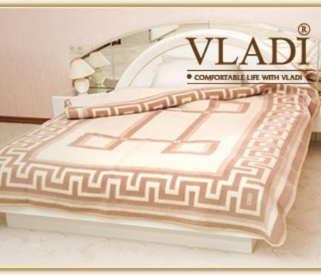 Одеяло шерстяное жаккардовое в ассортименте ТМ Vladi