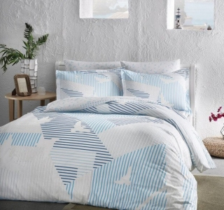 Постельное белье сатин-fluorescent ТМ TAC Izzie Blue евро-размер
