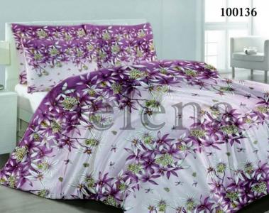 Постельное белье ТМ Selena бязь Веточка Фиолетовый