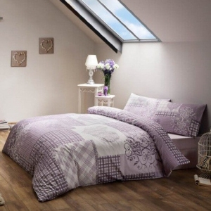 Постельное бельё сатин ТМ TAC Romance Lilac евро-размер