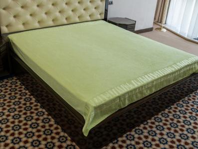 Простынь махровая ТМ Hanibaba Bamboo green 200х220