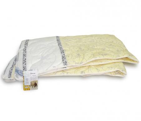 Одеяло межсезонное ТМ Leleka-Textile желтое с узором