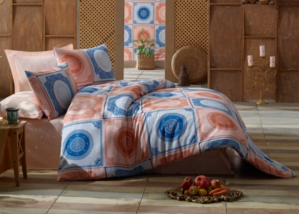 Постельное бельё ТМ Eponj Home ранфорс Ornament Royal евро-размер