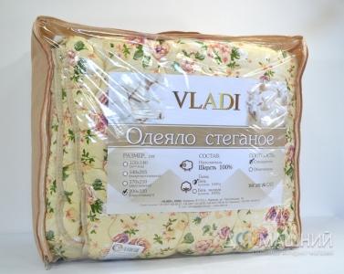 Одеяло зимнее шерстяное стеганое ТМ Vladi цветное