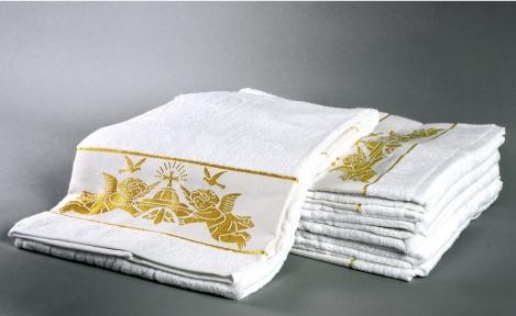 Полотенце ТМ Hanibaba Bamboo крыжма Ангелы золото