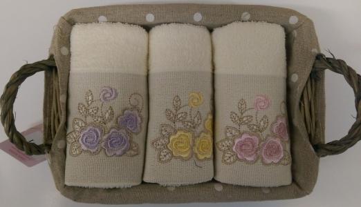 Набор махровых полотенец из 3 штук ТМ Begonville Lauren 5 30х50