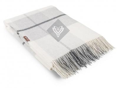 Плед шерстяной ТМ Идея Wool Toscana серый 140х200