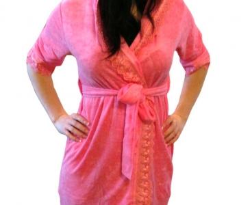 Халат махровый ТМ Nusa розовый женский (NS 029)