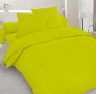 Постельное белье ТМ Nostra сатин гладкокрашеный Spring Green Active