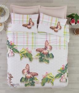 Постельное бельё ТМ Cotton Box ранфорс Brenda Yesil евро-размер