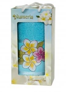 Набор хлопковых полотенец Turkiz Plumeria голубой 1 50х90см