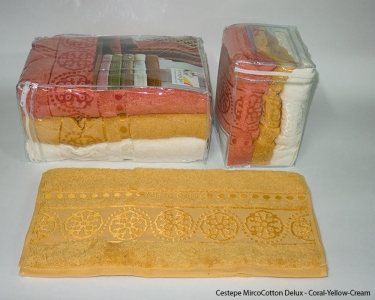 Набор полотенец из 6 штук ТМ Cestepe MicroCotton Delux Yellow Cream
