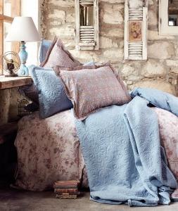 Постельное бельё ТМ Karaca Home ранфорс Patara Indigo евро-размер