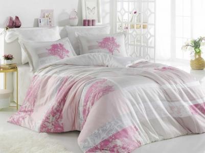 Постельное белье ТМ Hobby Exclusive Sateen Elsa розовое евро-размер