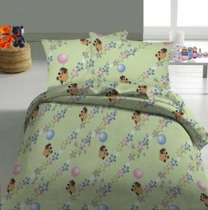 Детский постельный комплект ТМ Nostra бязь 10-0112 Light Green