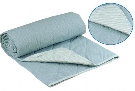 Одеяло летнее хлопковое ТМ Руно голубое 172х205