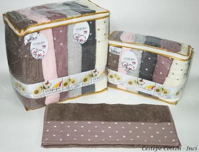 Набор полотенец из 6 штук ТМ Cestepe VIP Cotton Inci