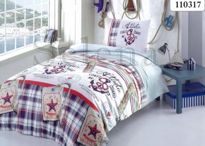 Подростковое постельное белье ТМ Selena бязь Якоря 110317