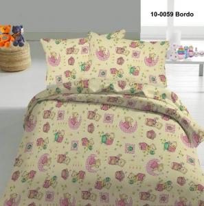Детский постельный комплект ТМ Nostra бязь Gold 10-0059 Bordo