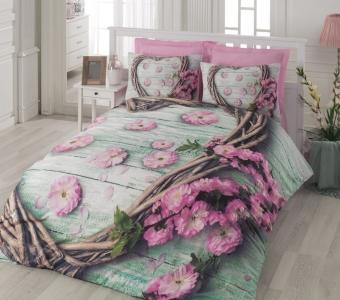 Постельное бельё ТМ Cotton Box ранфорс Sakura Pembe евро-размер