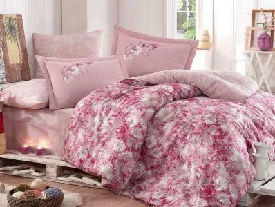 Постельное белье ТМ Hobby Exclusive Sateen Romina розовое евро-размер