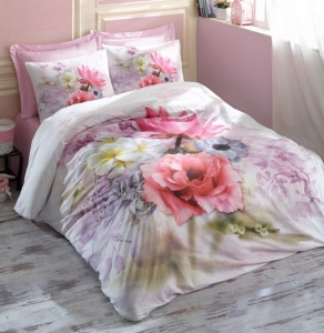 Постельное белье ТМ Cotton Box ранфорс Emily Lila евро-размер