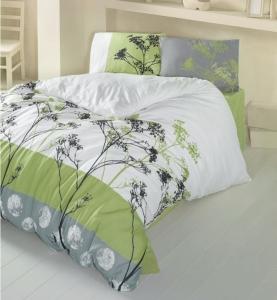 Постельное белье ТМ LightHouse бязь Belezza зеленый евро-размер