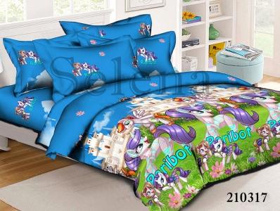 Подростковое постельное белье ТМ Selena ранфорс (210317) Littl Pony