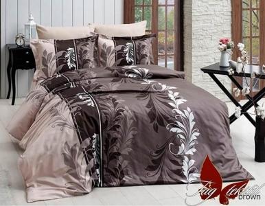 Постельное белье ТМ TAG ранфорс R7085 brown