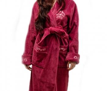 Халат велюровый ТМ Nusa фиолетовый женский (NS 3655)