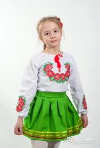Вышиванка для девочки Букет роз 4004