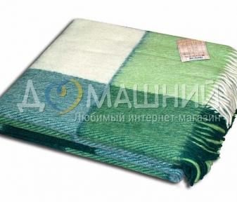 Плед шерстяной ТМ Vladi Эльф зеленый