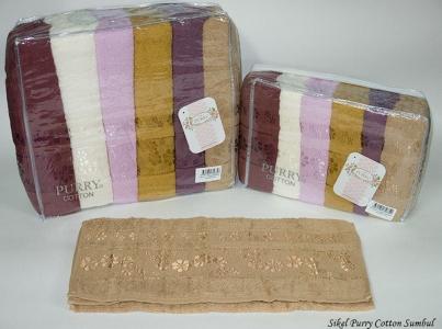 Набор полотенец из 6 штук ТМ Sikel Purry Cotton Sumbul