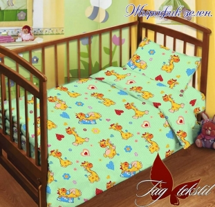 Детский постельный комплект ТМ TAG Жирафик зеленый